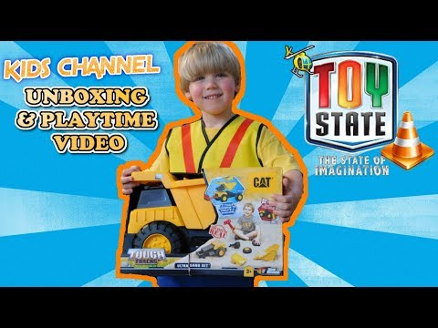CAT CONSTRUCTION TOUGH TRACKS ULTRA SAND SET | TOY STATE | KIDS TOY CHANNEL