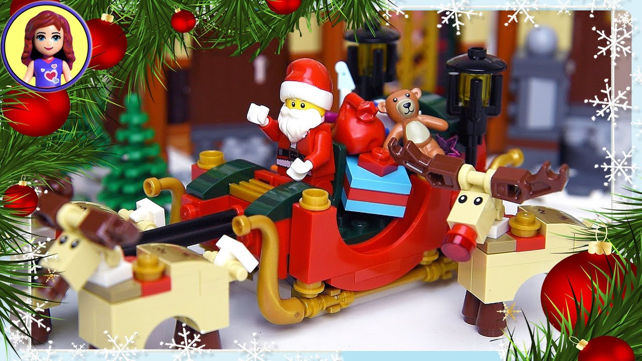 christmas santa sleigh rudolph reindeer lego build silly play kids toys youtube - Rudolph And Friends Christmas Decorations