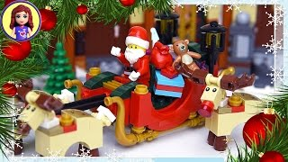Christmas Santa Sleigh Rudolph Reindeer Lego Build Silly Play - Kids Toys