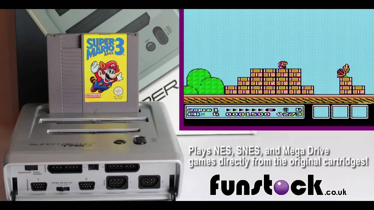 Super Mario Bros  3 (NES) Running on a Super Retro TRIO