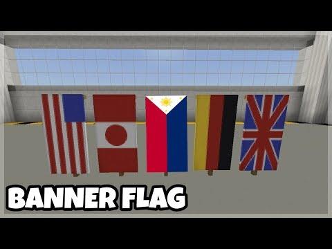 Mcpe Tutorials: 5 Flag Banner Designs