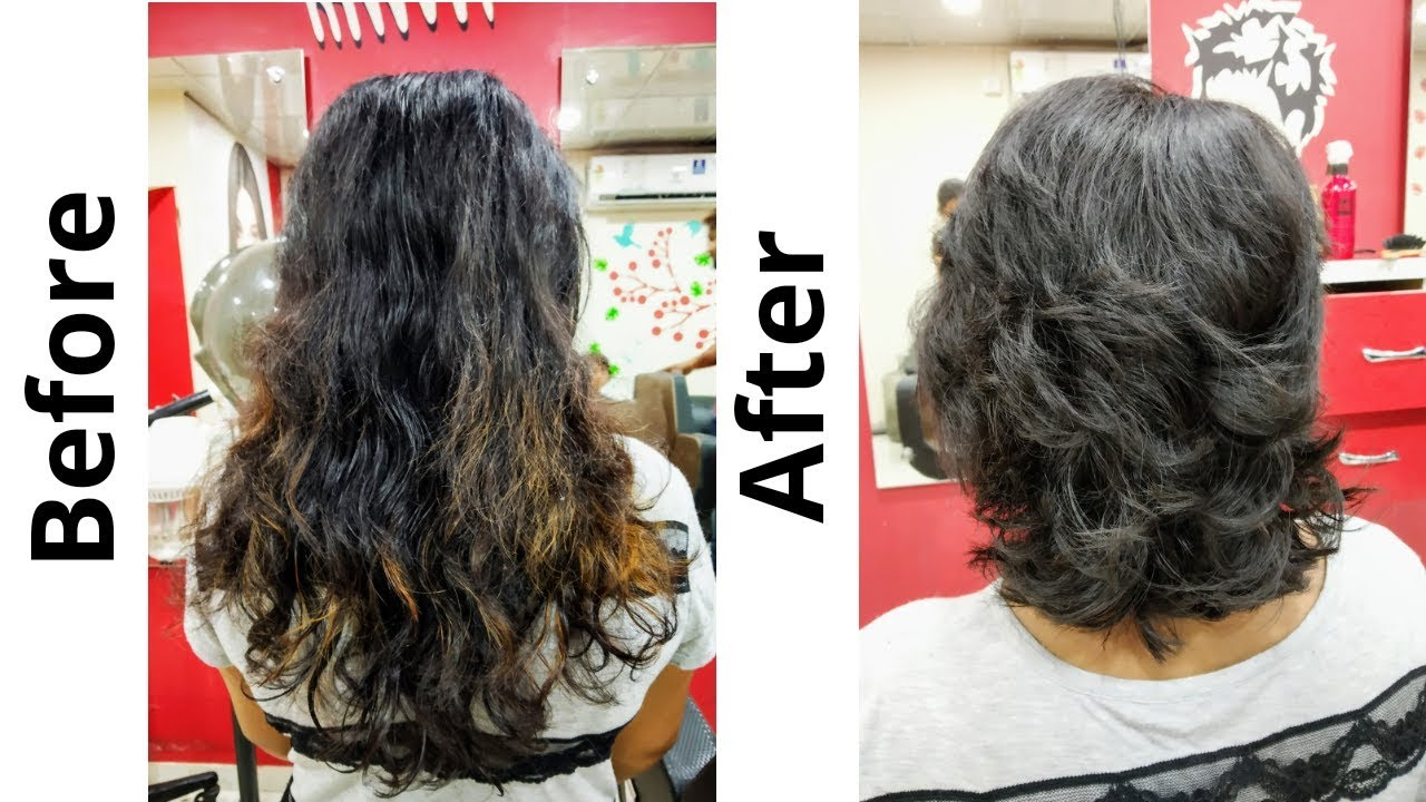 Long to short haircut / Layered haircut 11(Advance)