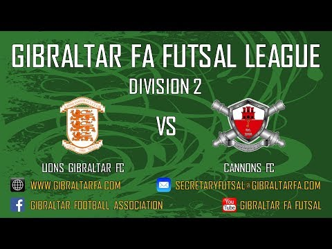 Division 2 - Lions Gibraltar FC 1 vs 12 Cannons FC - 22/10/2017