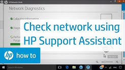 Checking Your Network Using HP Support Assistant | HP Computers | HP
