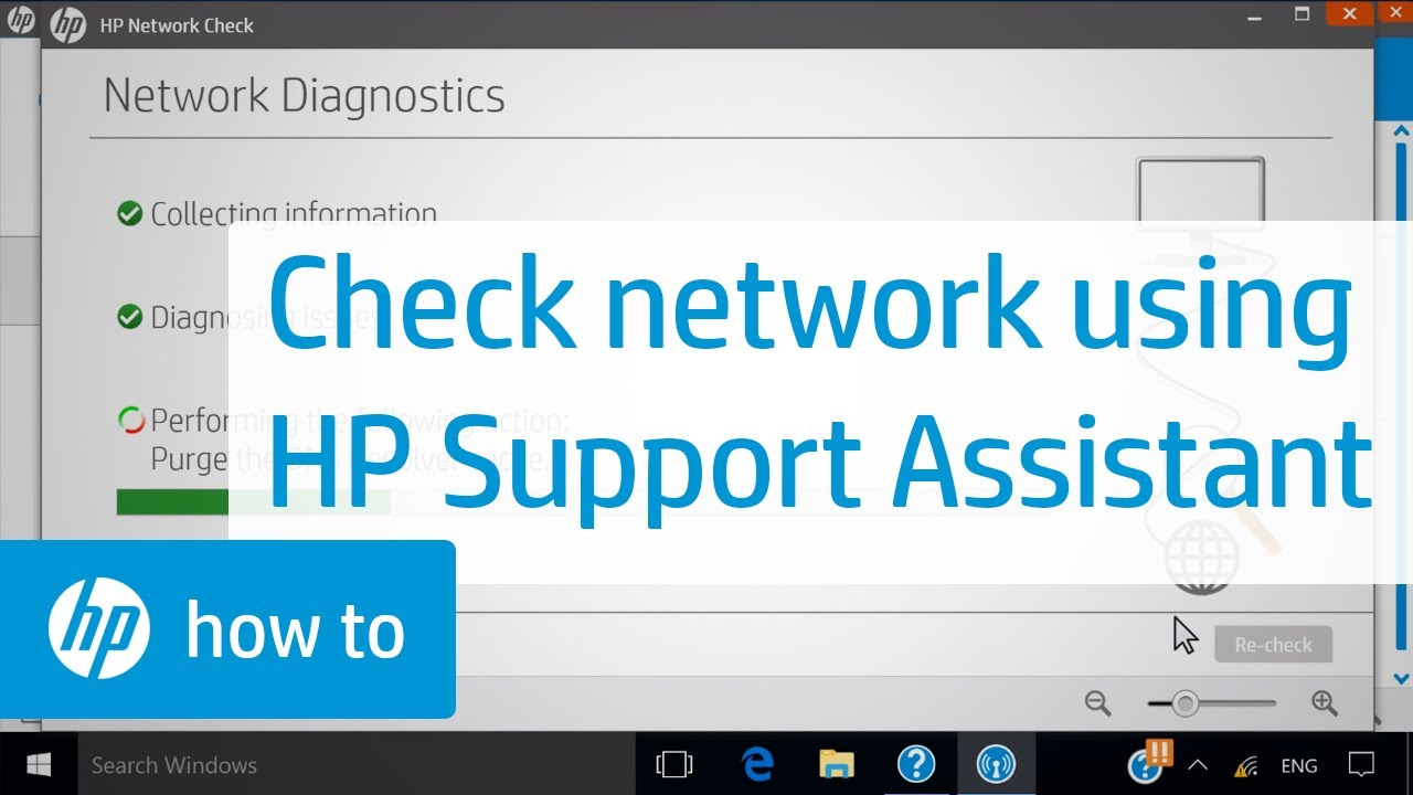 Checking Your Network Using HP Support Assistant | HP ...