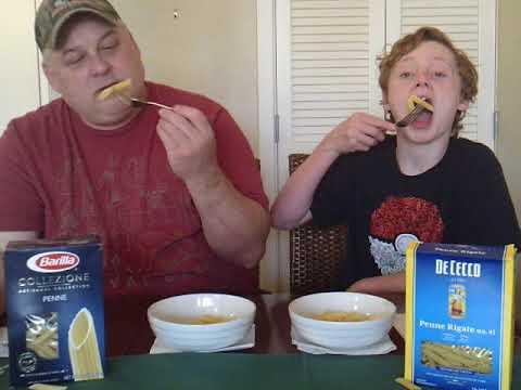 DB EATS Pasta Penne Barilla VS De Cecco