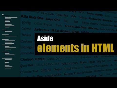 Learn Aside Elements In HTML | Eduonix