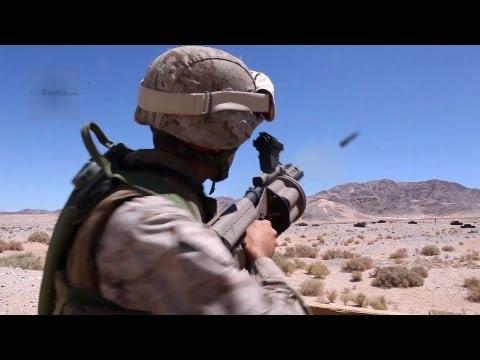 U.S. Marines M32 Multiple Grenade Launcher (Milkor MGL) Live Fire