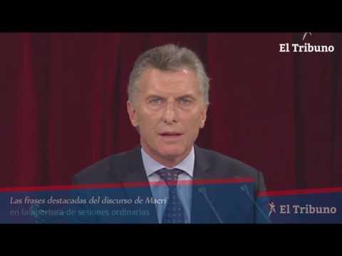 Las frases destacadas del discurso de Macri