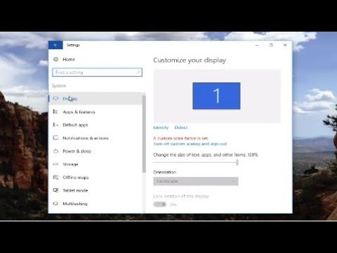 Windows 10 - How To Change Screen Resolution And Size