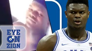 Zion Williamson CAUGHT SIMPIN After Thirsty College Girl Posts Private FT Convo
