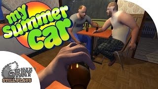 My Summer Car - Sauna, Going to Town For Gas and Beer, Crashing + Dying - Gameplay Highlights - Ep 2