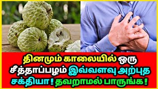 தினமும் ஒரு சீத்தாப்பழம் இவ்வளவு அற்புத சக்தியா | custard fruit | Health tips | Ayurveda