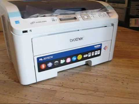 unpacking brother hl 3070cw led printer youtube. Black Bedroom Furniture Sets. Home Design Ideas