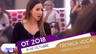 Clase de TÉCNICA VOCAL con MAMEN MÁRQUEZ (19 OCT) | OT 2018