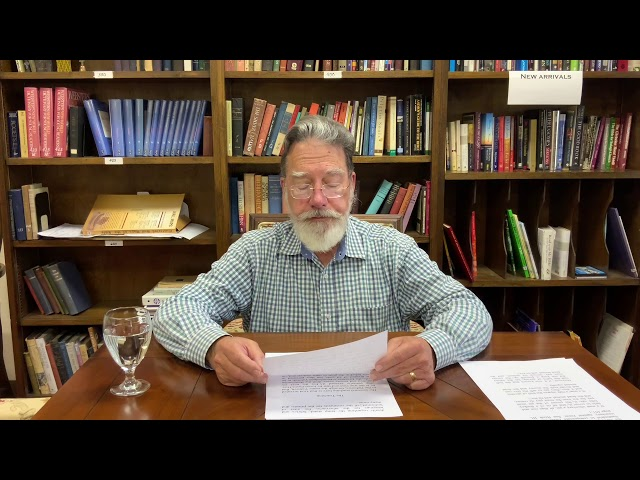 Bible Study with Bill Stahl -  Week 24 The Book of the Covenant