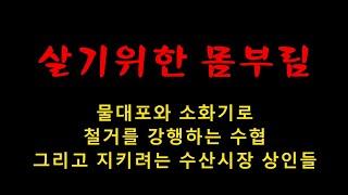 쫒으려는 자와 지키려는 자 (노량진수산시장 상인들)