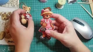 Вышивка. Игрушки Велюрики. От начала до готовой игрушки