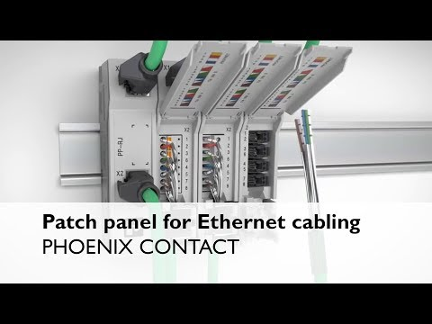 Patch panel for Ethernet cabling