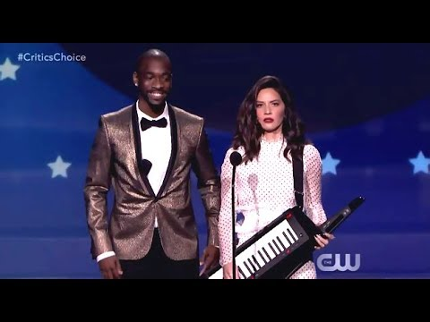 Olivia Munn Opens Critics Choice Awards (2018)