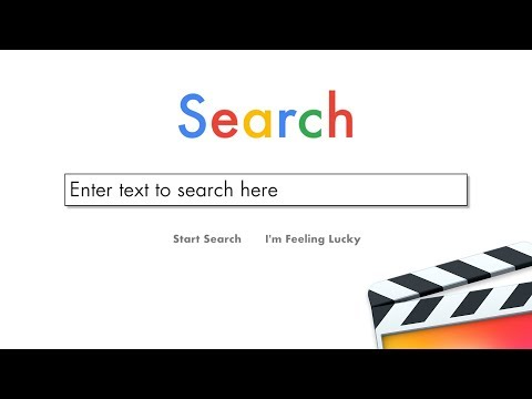 Free FCPX Plugin XEffects Web Page Search