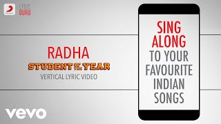 Radha - Student Of The Year|Official Bollywood Lyrics|Udit|Shreya|Vishal|Shekhar