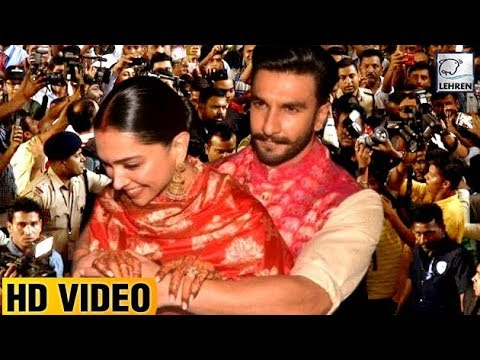Ranveer And Deepika Mumbai Arrival: Media Photographers Madness At The Airport | LehrenTV