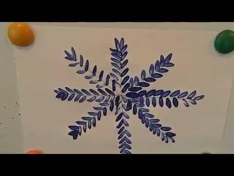 Занятие рисование в средней группе Снежинка