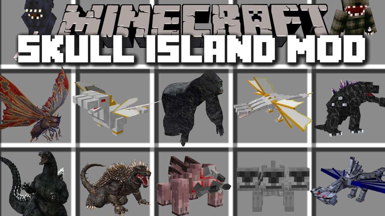 Minecraft Skull Island King Kong Mod Play With