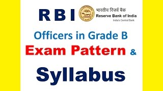 rbi exam pattern syllabus for officers in grade b paper wise details