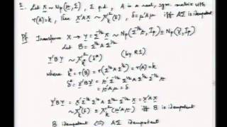 Mod-01 Lec-04 Multivariate normal distribution - II