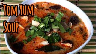 Thai Food: Tom Yum Soup with Mushroom, Tom Yum Hed, ต้มยำเห็ด