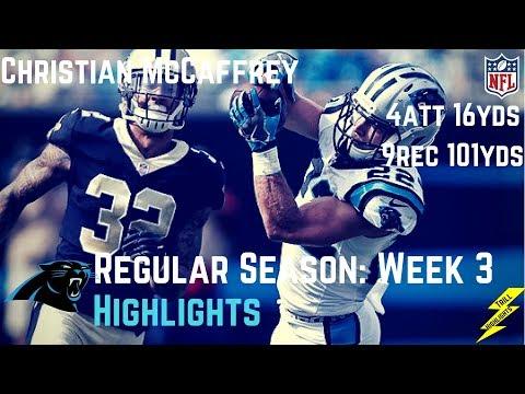 Christian McCaffrey Week 3 Regular Season Highlights 9 Catches! | 9/24/2017