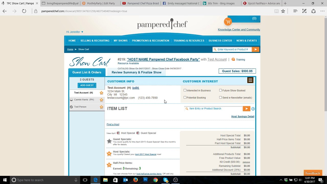 Pampered Chef Training How to Add a Kit Credit - YouTube