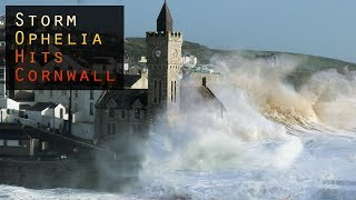 Storm Ophelia hits Cornwall - 60+MPH winds and huge waves