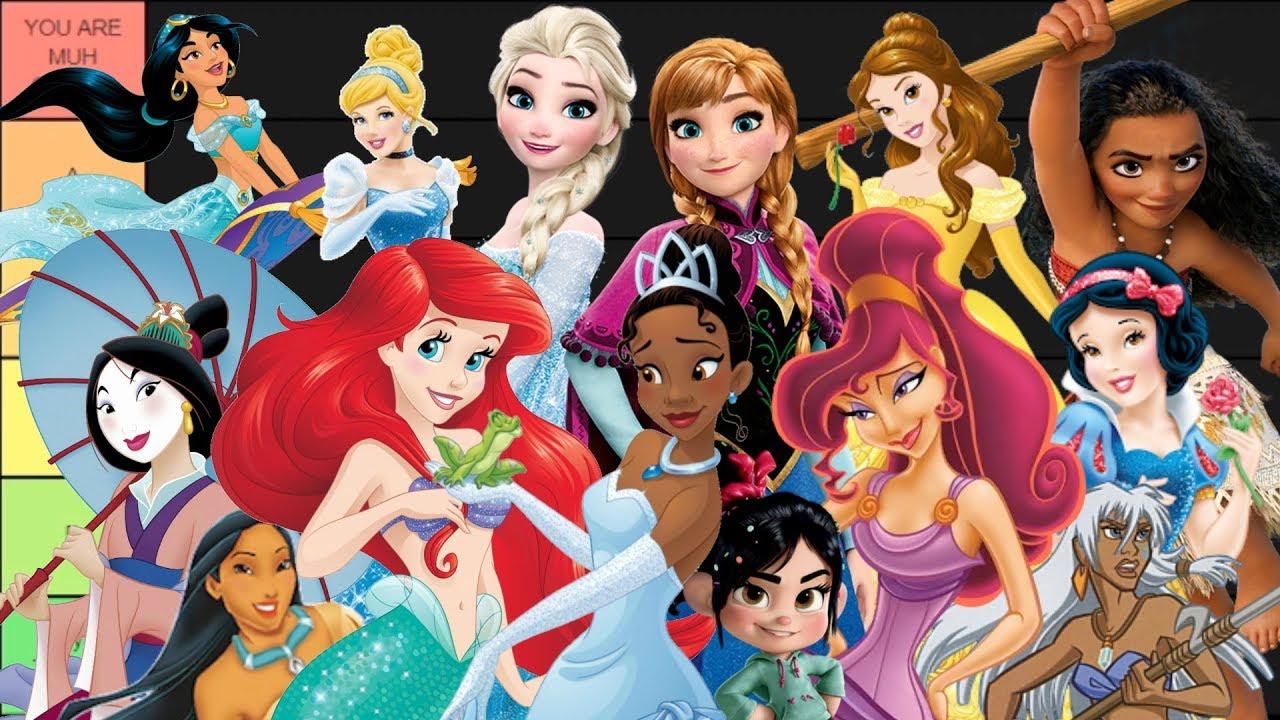 Disney Princesses Tier List - YouTube