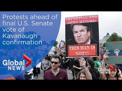 Protests on Capitol Hill ahead of Kavanaugh confirmation vote