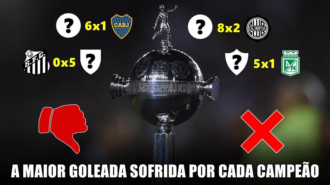 A maior GOLEADA SOFRIDA na Libertadores, por cada clube que já venceu a Copa
