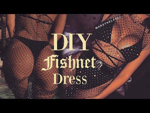 DIY Diamond Fishnet Dress ( NO BASIC PATTERN USE ! )| Tijana Arsenijevic
