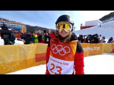 """Elizabeth Swaney """"olympic"""" run with zero tricks!"""