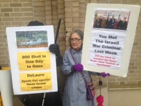 Protesting a Politician's Silence over the Gaza Massacre - The Struggle