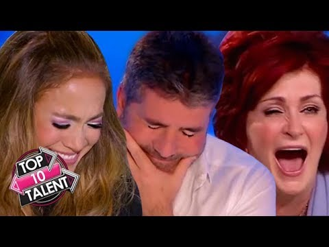 TOP 10 FUNNIEST Singing Auditions That Made The Judges Laugh On X Factor And Idol!