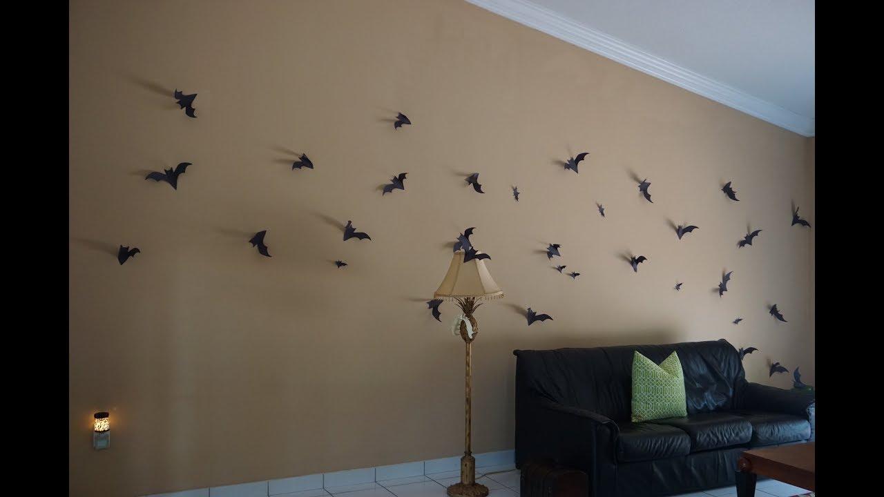Diy Bat Halloween Decor | Free Bat Template | Victoria Nicole
