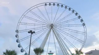 Gondolas Removed from Skywheel in Myrtle Beach Due to Hurricane Florence
