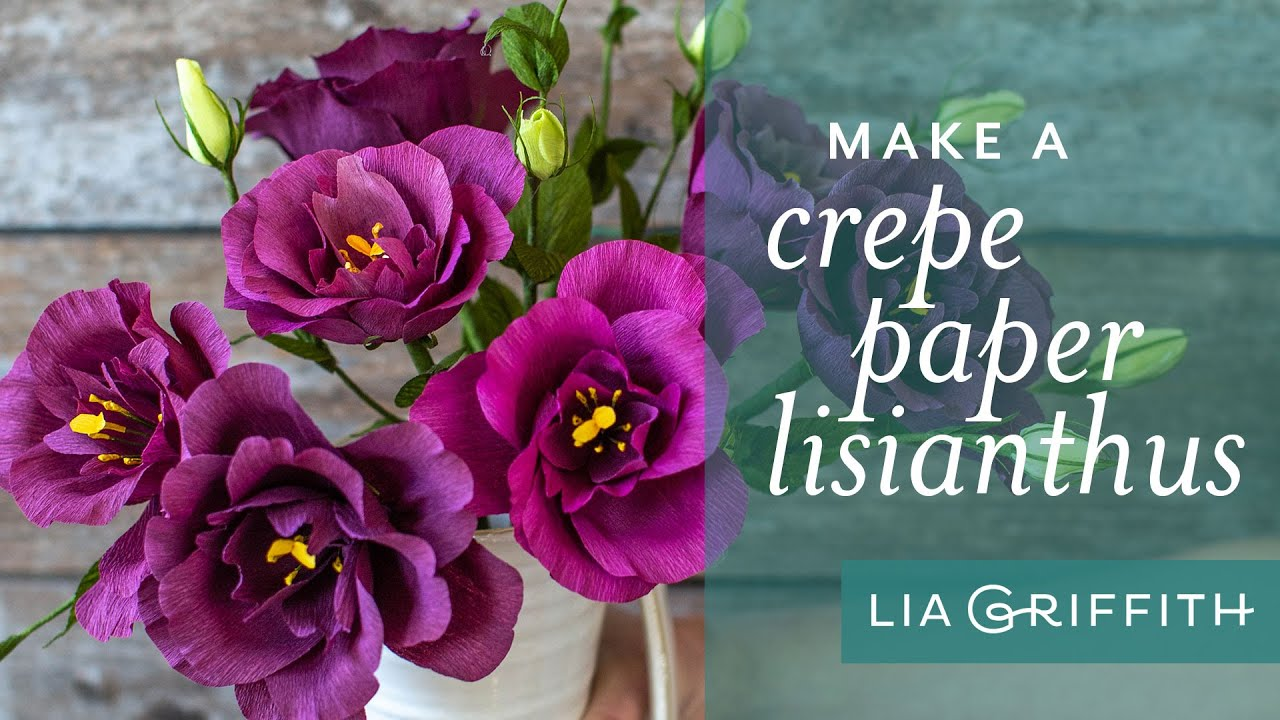 Member Make Live Tutorial: Crepe Paper Lisianthus Flowers