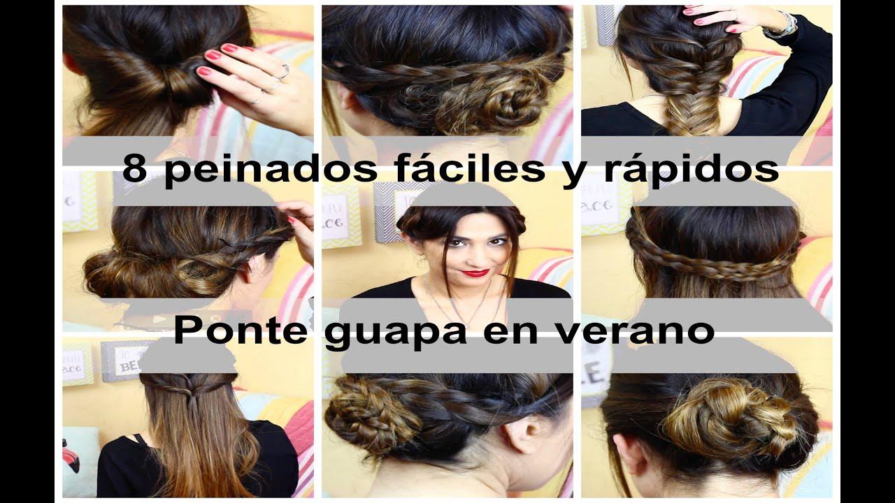 8 peinados r pidos y sencillos para verano peinados con - Peinados sencillos y faciles ...