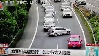 WOMAN THOUGHT IT WAS OKAY TO MAKE A U TURN ON THE HIGHWAY