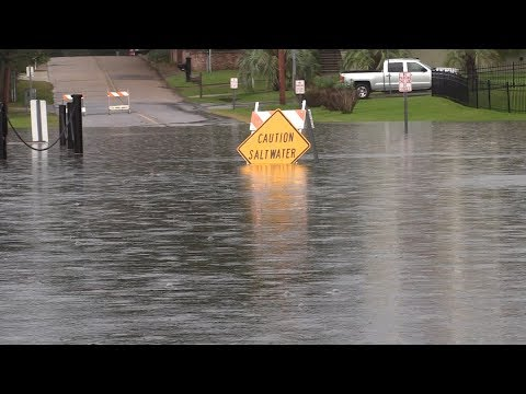 Biloxi, MS Hurricane Nate - Storm Surge - 10/7/2017