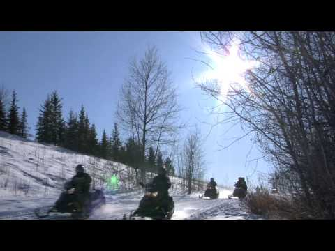 Snowmobiling in the Prairies - Saskatchewan, Canada