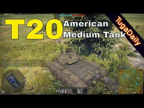 War Thunder T20 on Carpathians -  American Medium Tank - Realistic Battles